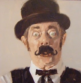 """FACE IT # 32  - DERBY CHAP #3 of 3"" original fine art by Helen Cooper"