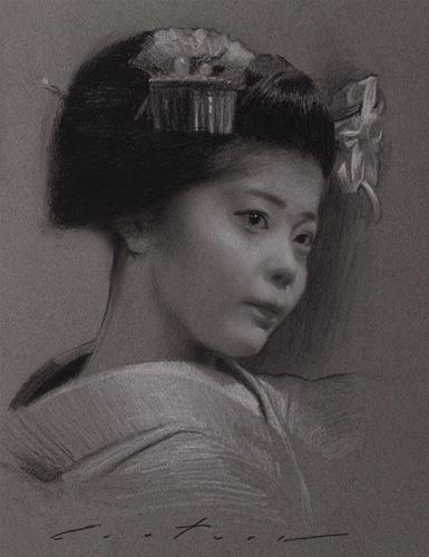 """Portrait of Momifuku"" original fine art by Phil Couture"