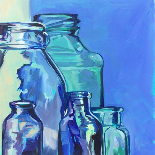 """Feeling the Blues"" original fine art by Lauren Kuhn"