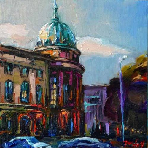 """House of the Economy, Stuttgart"" original fine art by Jurij Frey"