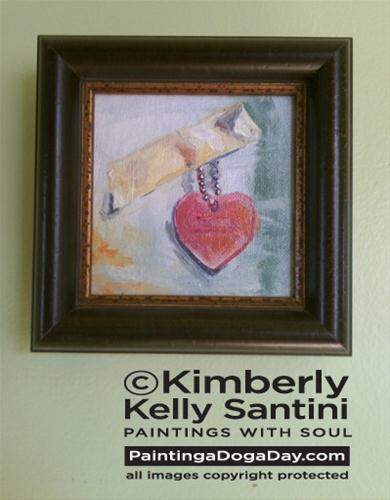 """A Not-So-Silent Auction"" original fine art by Kimberly Santini"