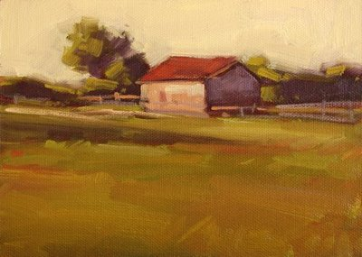 """Morning in the Field"" original fine art by Laurel Daniel"