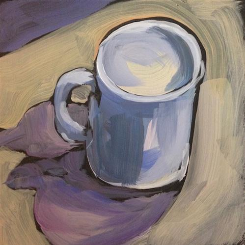 """Hotel Mug"" original fine art by Kat Corrigan"