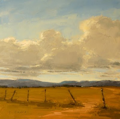 """Western Skies (enlarged)"" original fine art by Laurel Daniel"