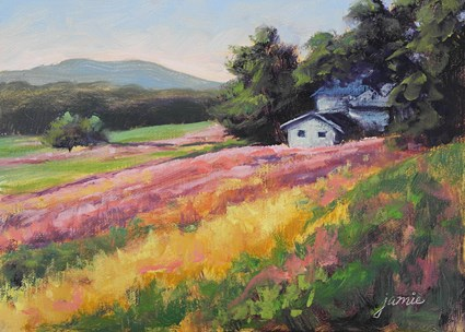"""Autumn at the Old Homestead"" original fine art by Jamie Williams Grossman"