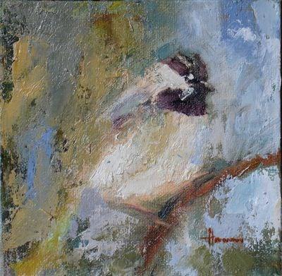 """Bird in Bushes - Susan Hammer"" original fine art by Susan Hammer"