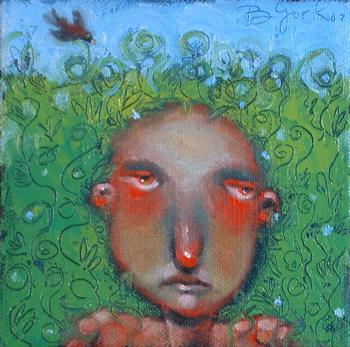 """Weeds Make Me Sneeze"" original fine art by Brenda York"