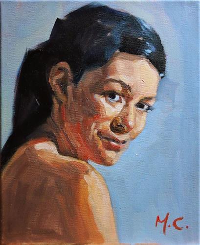 """head practice"" original fine art by Michelle chen"