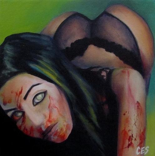 """""""Zombie Fantasy"""" original fine art by ~ces~ Christine E. S. Code"""