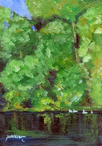 """ORIGINAL PAINTING - GOOSE CREEK #3"" original fine art by Sue Furrow"