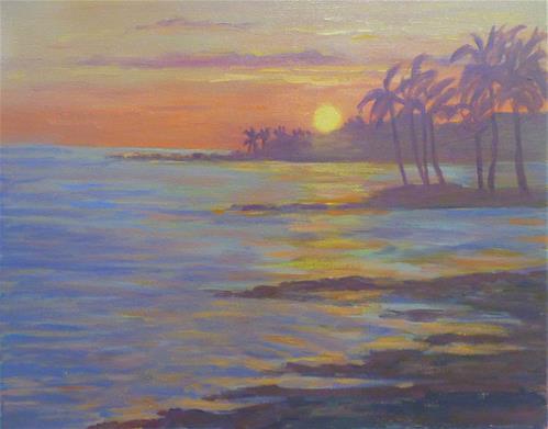 """""""Kona Sunset"""" original fine art by Stan Chraminski"""