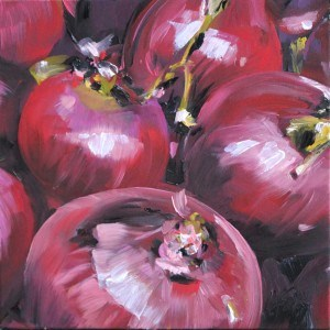 """onions"" original fine art by Kim Smith"