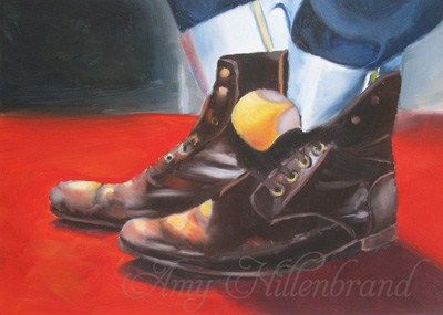 """Mr. Leatherneck"" original fine art by Amy Hillenbrand"