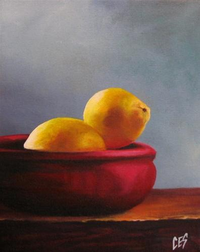 """Bowl of Lemons"" original fine art by ~ces~ Christine E. S. Code"