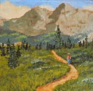 """Lone Hiker"" original fine art by Robert Frankis"