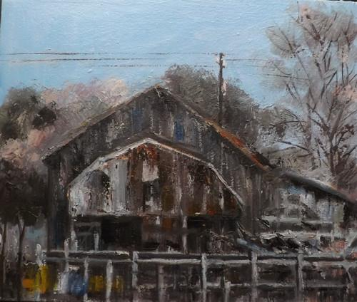"""Landscape,j28"" original fine art by Run-      Zhang Zane"