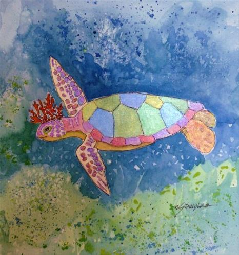 """Dreams of the Turtle King 13088"" original fine art by Nancy Standlee"
