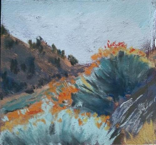 """Rabbit Brush"" original fine art by Mary Davies Kerns"