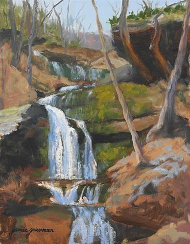 """Spring Thaw at the Falls"" original fine art by Jamie Williams Grossman"