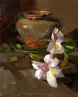"""Tiger Lily --- Sold"" original fine art by Qiang Huang"