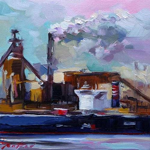 """Im Hafen 2"" original fine art by Jurij Frey"