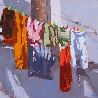 """LAUNDRY DAY (Alcalá de Los Gazules, Spain)"" original fine art by Helen Cooper"