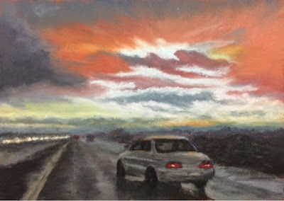 """STORM CLOUDS OVER YOLO CAUSEWAY"" original fine art by Marti Walker"