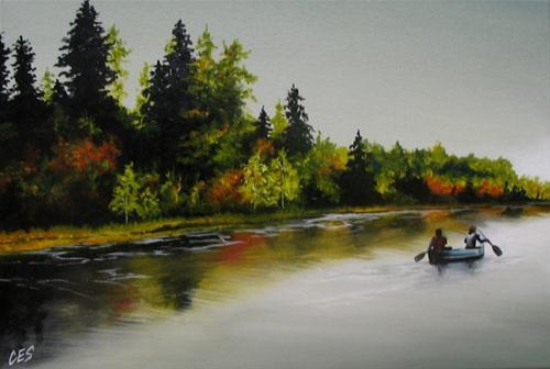 """Long Island Lake"" original fine art by ~ces~ Christine E. S. Code"
