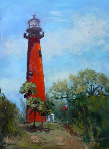 """Jupiter Lighthouse"" original fine art by Carol Schiff"