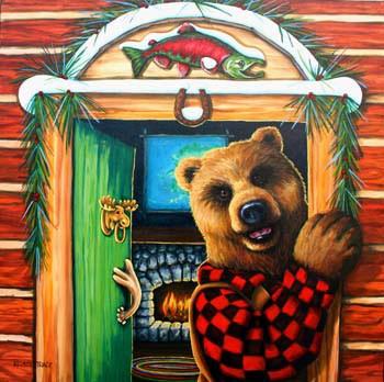 """WARM WELCOME"" original fine art by Kristy Tracy"