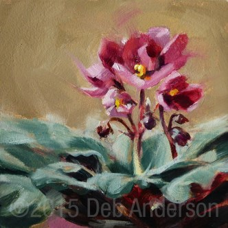 """Oil Painting: African Violet"" original fine art by Deb Anderson"