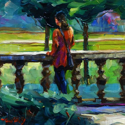"""in the park"" original fine art by Jurij Frey"