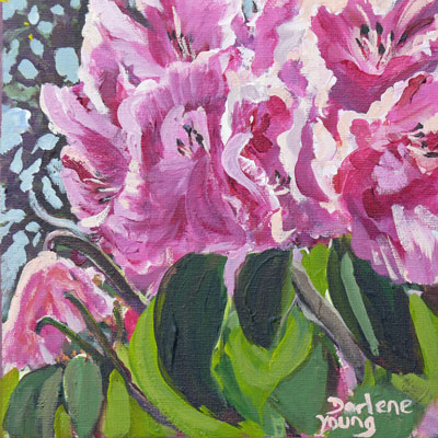 """Rododendron"" original fine art by Darlene Young"