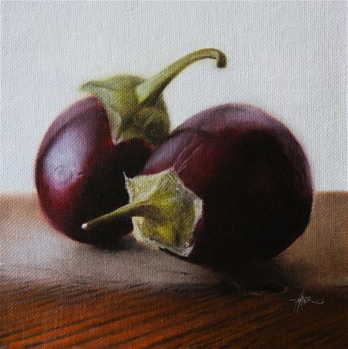 """Baby Eggplants #2"" original fine art by Jonathan Aller"