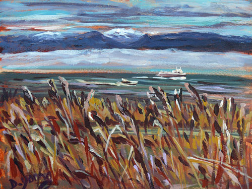 """Holland Point Late Summer"" original fine art by Darlene Young"