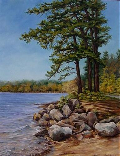 """Spring Pines"" original fine art by Maria Levandowski"