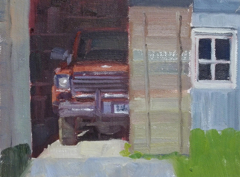 """Old Truck"" original fine art by Deborah Newman"