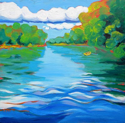 """Willamette River commission"" original fine art by Pam Van Londen"