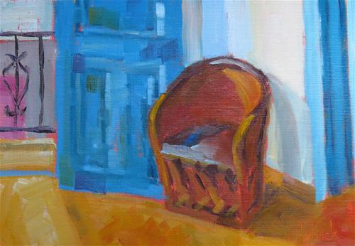 """Take A Seat"" original fine art by Pam Holnback"