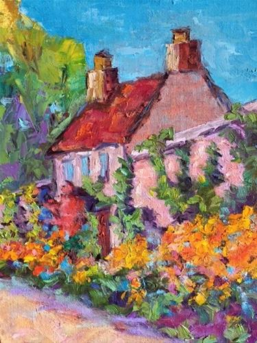 """Cottage Garden Scotland"" original fine art by Liz Zornes"