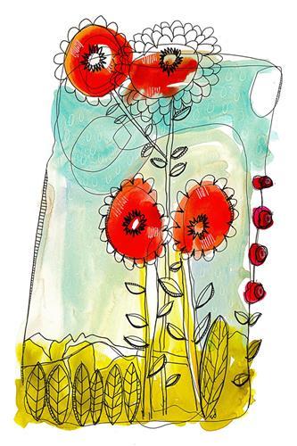 """""""How Does Your Garden Grow"""" original fine art by Tonya Doughty"""