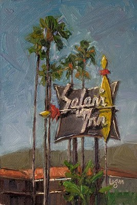 """Safari Inn"" original fine art by Raymond Logan"