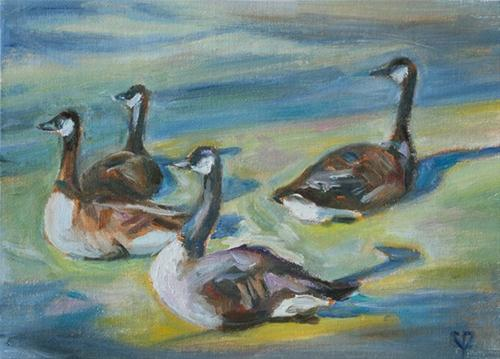 """Summer Friends"" original fine art by Carol DeMumbrum"