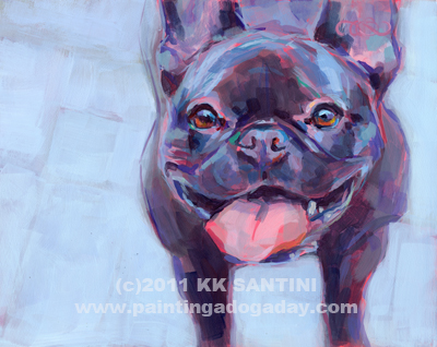"""Roxy"" original fine art by Kimberly Santini"