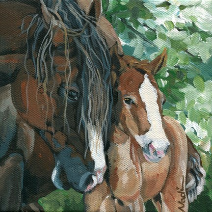 """Mare and Colt"" original fine art by Nadi Spencer"