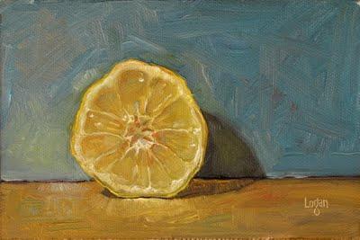 """Lonely Lemon Half"" original fine art by Raymond Logan"