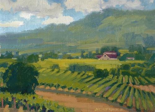 """Across the valley"" original fine art by J. Thomas soltesz"