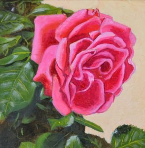 """Red Rose"" original fine art by Robert Frankis"