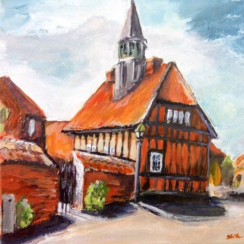 """1407 Old Town Hall Ebeltoft"" original fine art by Dietmar Stiller"