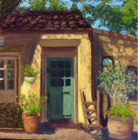 """THE BLUE DOORWAY"" original fine art by Marti Walker"
